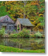 Farm In Woods Metal Print