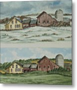 Farm Of Seasons Metal Print