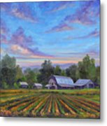 Farm On Glenn Bridge Metal Print