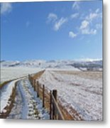 Farm Track To Round Law And King's Seat Metal Print