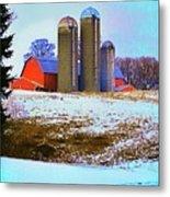 Farm Up Yander Metal Print