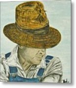 Farmer Ted Metal Print