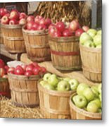 Farmer's Market Apples Metal Print