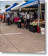 Farmers Market Before The Crowd Metal Print