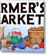 Farmers Market Sign. Metal Print