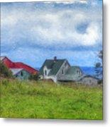 Farmhouse By The Sea Metal Print