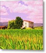 Farmhouse In Tuscany Metal Print
