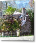 Farmhouse On A Cold Winter Morning. Metal Print