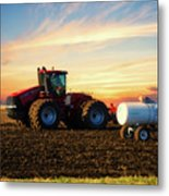 Farming April In The Field On The Case 500 Metal Print