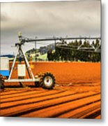 Farming Field Equipment Metal Print