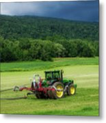 Farming New York State Before The July Storm 02 Metal Print