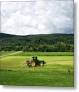 Farming New York State Before The July Storm 03 Metal Print