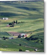 Farmland In Eastern Washington State Metal Print