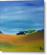 Farms And Rolling Hills  Metal Print