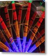 Farris Wheel In Motion Metal Print