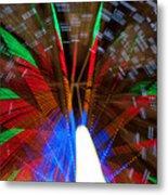Farris Wheel Light Abstract Metal Print