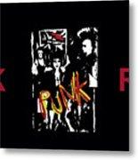 Punk Rock Alternative Style Design Metal Print