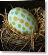 Fashionable Egg  Metal Print