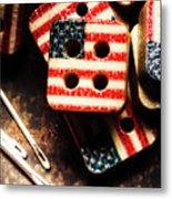 Fashioning A Usa Design Metal Print