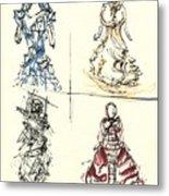 Fashionista 4 Metal Print