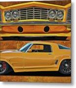 Fast Yellow Metal Print