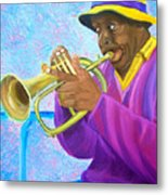 Fat Albert Plays The Trumpet Metal Print