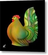 Fat Chicken By Rafi Talby  Metal Print