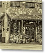 Fat Hen Grocery Sepia Metal Print