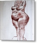 Fat Nude Woman  Metal Print