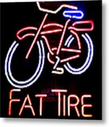 Fat Tire Neon Sign Metal Print
