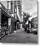 Fat Tony's In Black And White Metal Print
