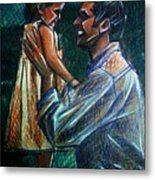Father And Daughter Metal Print by Paulo Zerbato