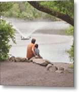 Father And Son 2 Metal Print