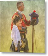 Father And Son Soldiers Metal Print