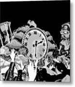 Father Time In Black And White Metal Print