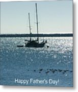 Father's Day Card - Peaceful Bay Metal Print