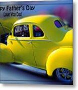 Father's Day W Frame Metal Print