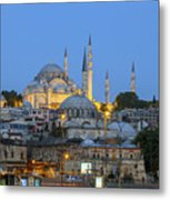 Fatih District In The Morning,istanbul. Metal Print