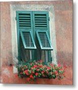 Faux  Painting Window  Metal Print
