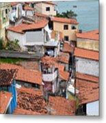 Favela In Salvador Da Bahia Brazil Metal Print