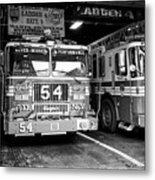 fdny fire station with engine 54 and ladder 5 battalion 9 New York City USA Metal Print