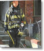 Fdny Squad 41 Firefighter Metal Print
