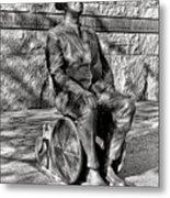 Fdr Memorial Sculpture In Wheelchair Metal Print