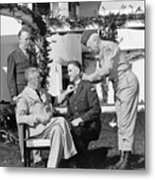 Fdr Presenting Medal Of Honor To William Wilbur Metal Print by War Is Hell Store