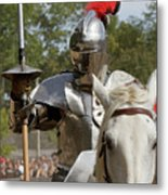Knight With Lance Metal Print