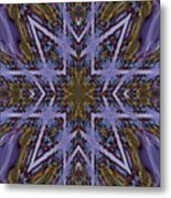 Feather Cross Metal Print