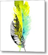 Feather Fusion Metal Print