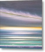 Feather Panoramic Sunset Metal Print