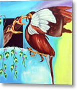 Feather Touch Metal Print