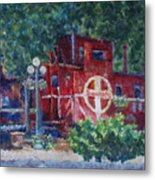 Featherbed Railroad Caboose Metal Print
